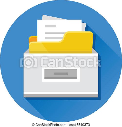 El archivador Vector con documentos - csp18540373