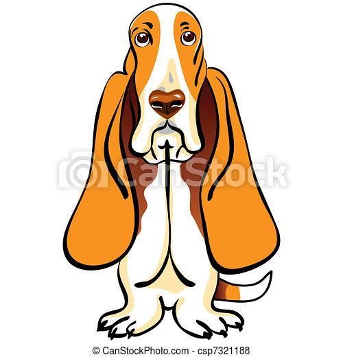 vector dog Basset Hound breed - csp7321188