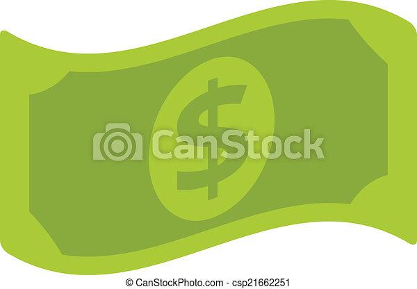 vector dollar bill flat icon rh canstockphoto com clip art dollar bill 20 dollar bill clipart images