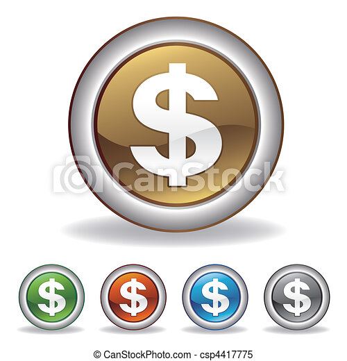 vector dollar icon - csp4417775