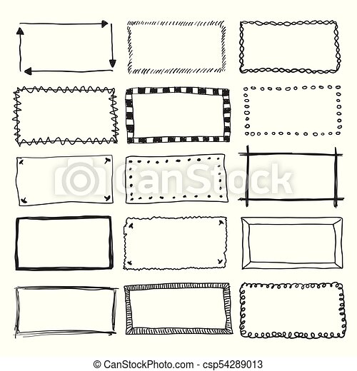 vector doodle frame borders hand drawn vector border frame rh canstockphoto com borders vector borders vector frame