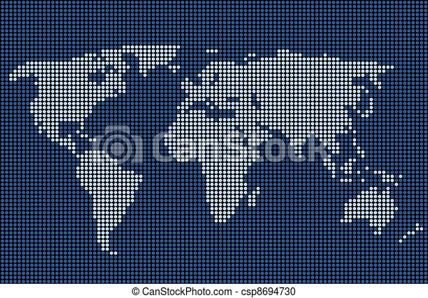 Vector dotted world map vector clipart search illustration vector dotted world map gumiabroncs Image collections