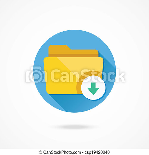 Vector Download Folder Icon - csp19420040