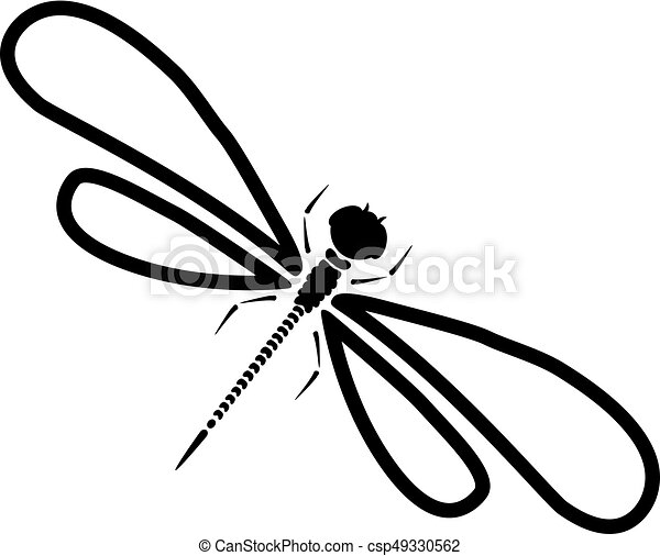 vector dragon fly silhouette cartoon graphic illustration clip rh canstockphoto com dragonfly vector image dragonfly vector format
