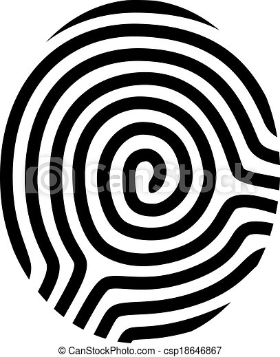 vector drawing fingerprint symbol - csp18646867