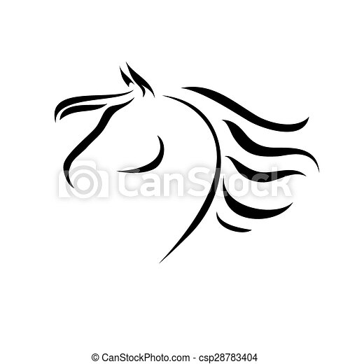 vector drawing horse vector stylized figure of a horse