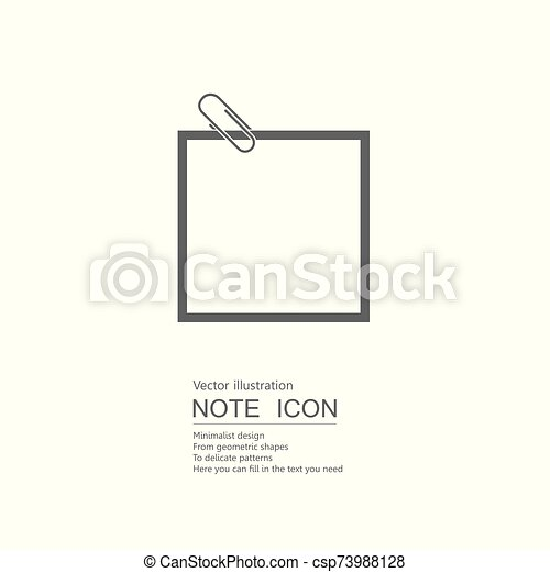 Vector drawn note paper. Isolated on white background. - csp73988128