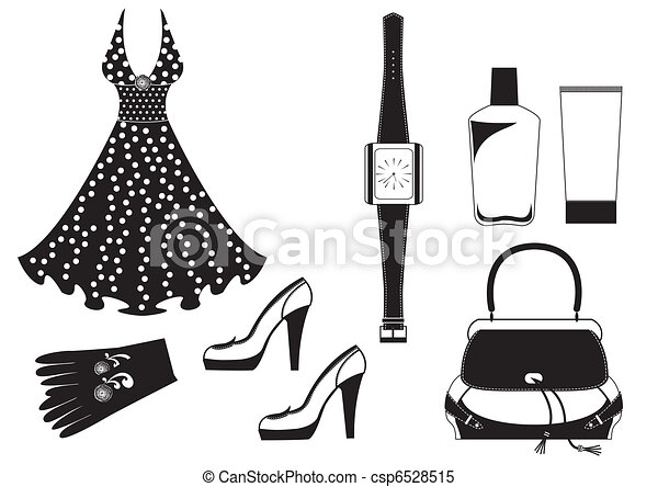 Vector dress on white.Fashion clothes for woman - csp6528515
