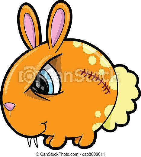 Un conejo duro vector de animales - csp8603011