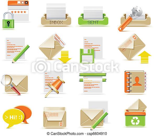 Vector e-mail icon set - csp6604910