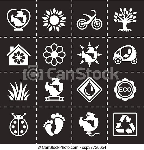 Vector Eco icon set - csp37728654