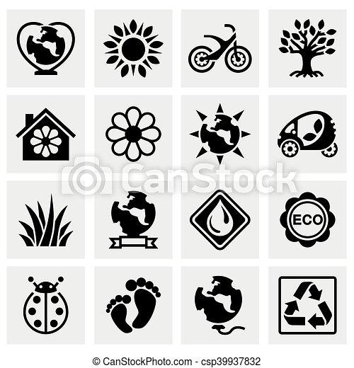 Vector Eco icon set - csp39937832