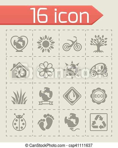 Vector Eco icon set - csp41111637