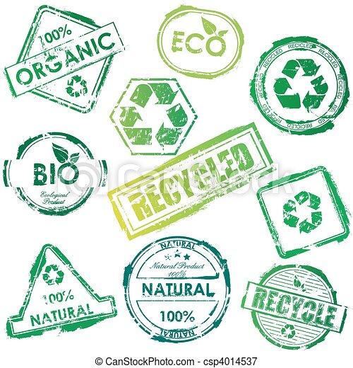 Vector eco stamps - csp4014537
