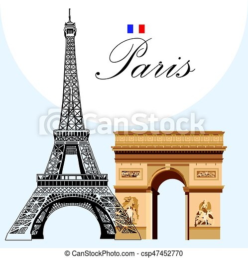 Vector eiffel tower and triumphal arch vector image eiffel tower vector eiffel tower and triumphal arch thecheapjerseys Gallery