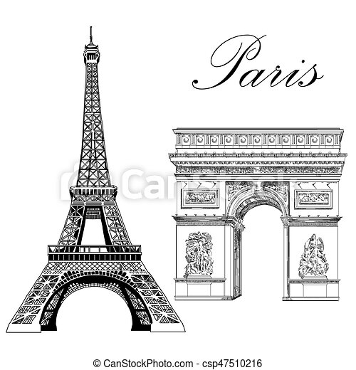 Vector eiffel tower and triumphal arch eiffel tower and triumphal vector eiffel tower and triumphal arch thecheapjerseys Gallery