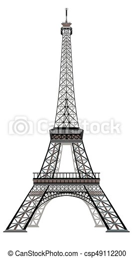 Vector eiffel tower vector illustration grey and black eiffel tower vector eiffel tower thecheapjerseys Gallery