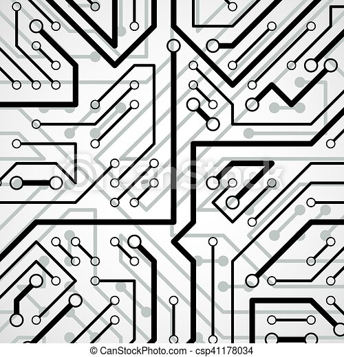 Vector electronic pattern with microchip scheme, circuit board high ...