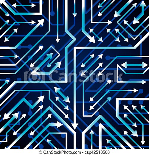 Vector electronic pattern with microchip scheme with ...