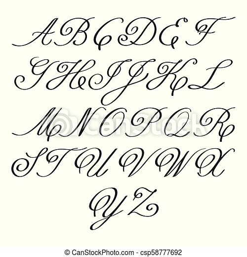Vector Elegant Calligraphy Letters With Florishes Monograms