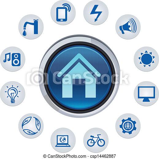 El concepto de la casa inteligente del vector - csp14462887