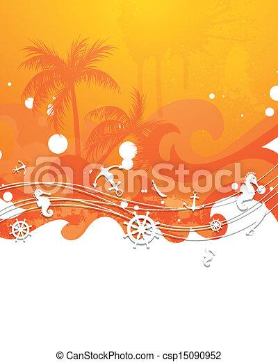 Trasfondo vectorial con elementos náuticos - csp15090952