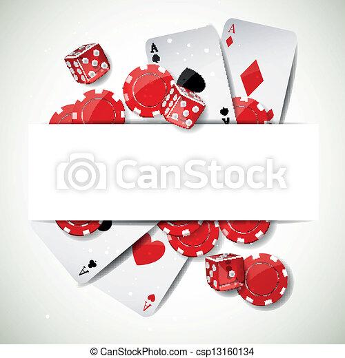 Antecedentes vectoriales con elementos de casino - csp13160134