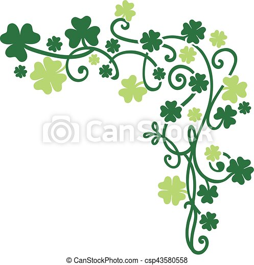 Vector elements background for St. Patrick's Day - csp43580558