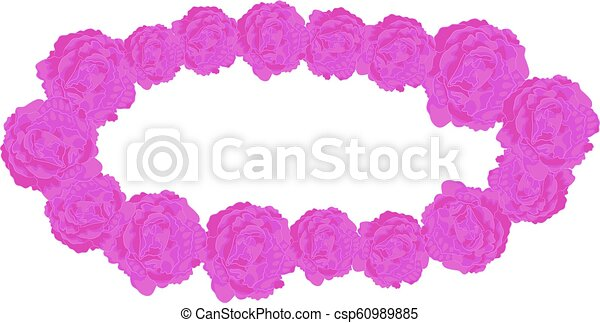 Vector Elliptical Frame of Lilac Roses - csp60989885