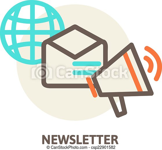 vector email marketing concepts newsletter and subscription rh canstockphoto com clip art subscription services clipart subscription services