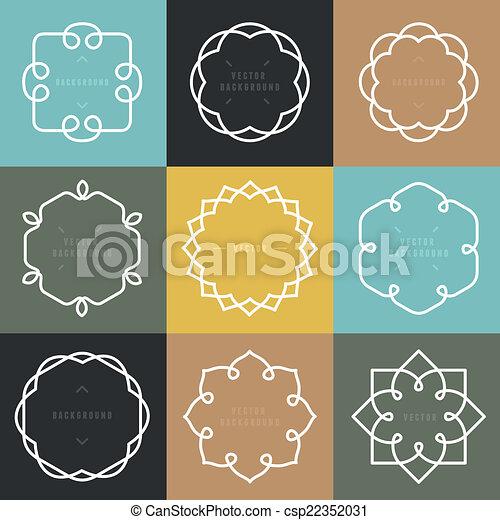 Vector conjunto de emblemas y placas - csp22352031