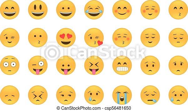 vector., emoticon, セット - csp56481650