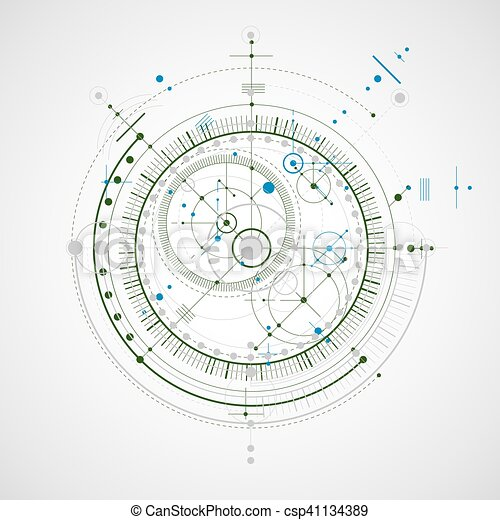 Vector engineering technological background, futuristic technical ...