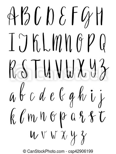 Vector English Alphabet Handwritten Script Hand Lettering And Custom Typography For Print Web Posters Cards Illustrations