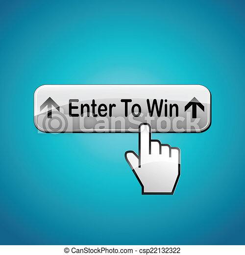 Vector enter to win button - csp22132322