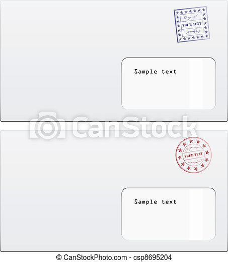 vector envelopes with a stamp - csp8695204