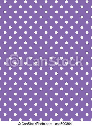 Vector eps 8 Purple Polka Dots - csp6008641