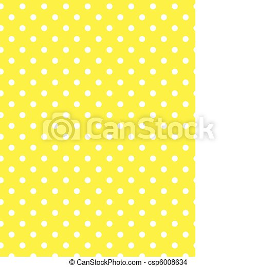Vector eps 8 Yellow Polka Dots - csp6008634