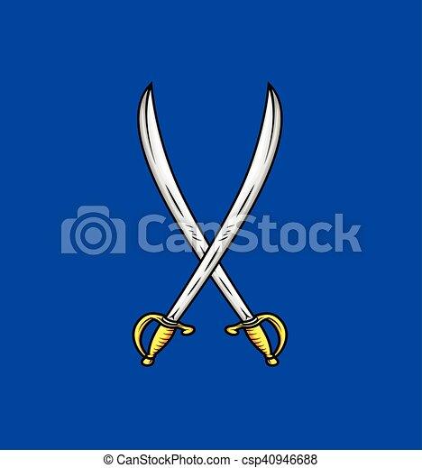 Ilustración de vectores de espadas cruzadas - csp40946688