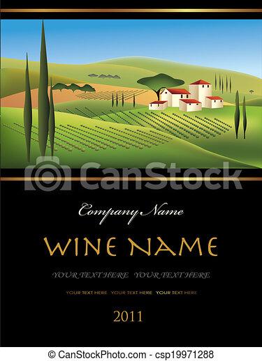 Etiqueta de vino Vector - csp19971288
