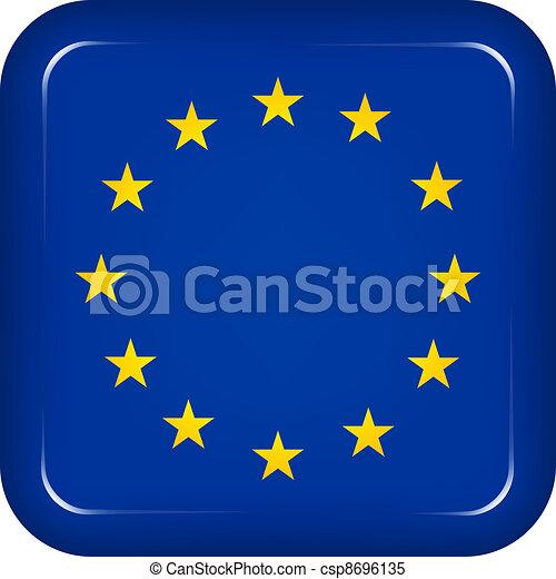 Vector EU flag - csp8696135