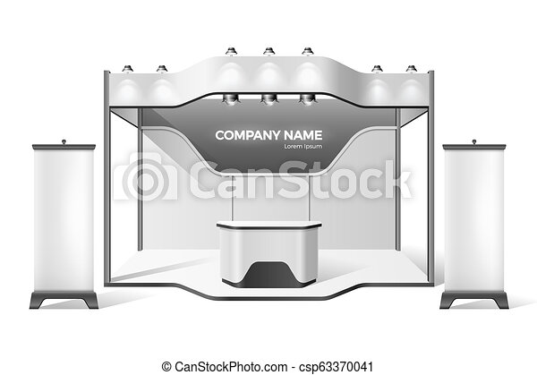 Expo Exhibition Stands Up : Vector exhibition stand business expo mock up company advertising