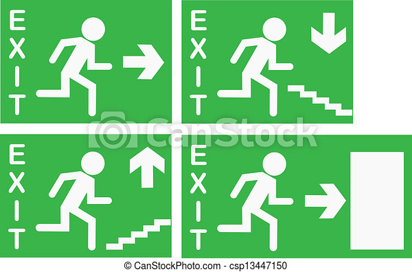 Vector Exit Signs - csp13447150