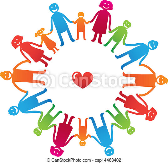 vector family icons happy parents with kids bright vector rh canstockphoto com clip art construction images clip art construction images