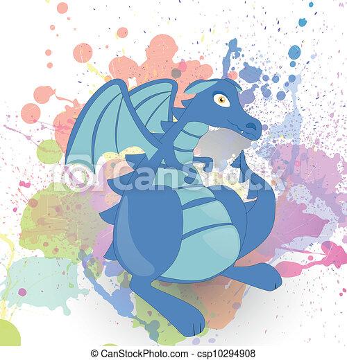 Vector fantasy dragon - csp10294908