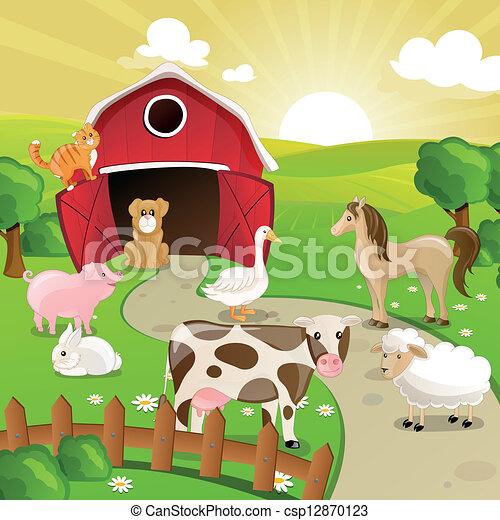 Vector Farm Animals - csp12870123