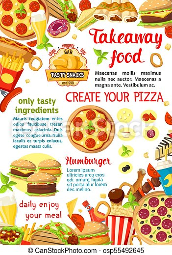 vector fast food restaurant menu poster fast food restaurant menu