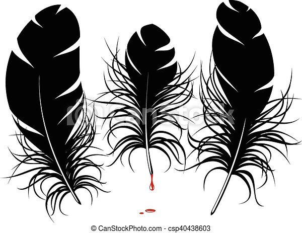 Line Art Feather : Vector feather silhouette clipart search illustration