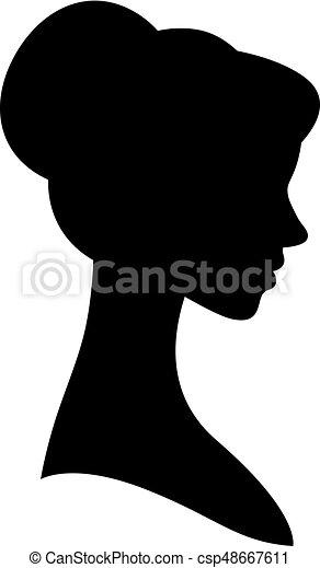 silhouette portrait