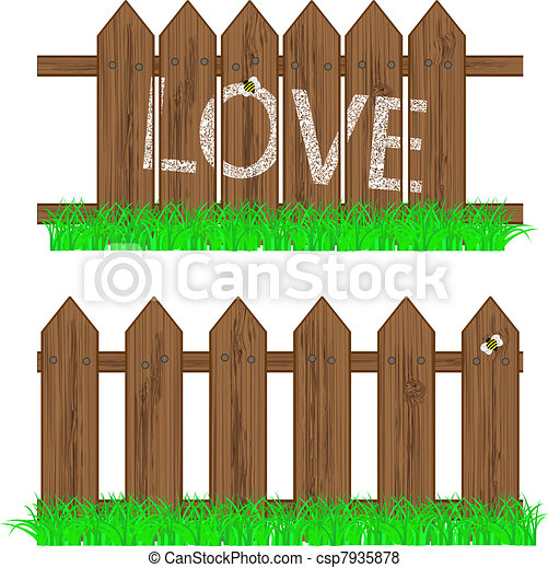 Vector fence with grass for your design for Cerco illustratore